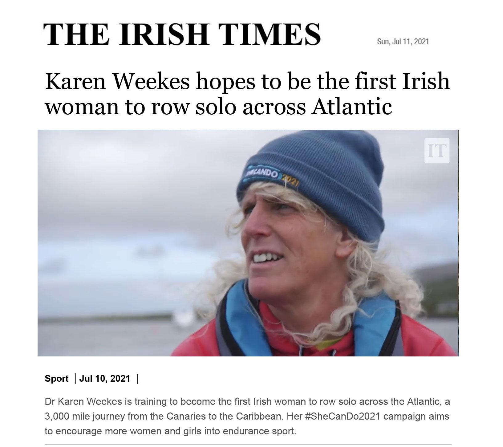 IrishTimesKarenweekes11thJuly2021